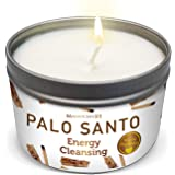 Magnificent101 PALO Santo Smudge Candle for Home Energy Cleansing, Banishes Negative Energy - Natural Soybean Wax Tin Candle