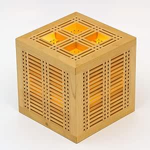 木のあかり ひかりの小箱1 青森ヒバ製 国産手作り 消費電力10w