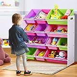 Levede Kids Toy Box Bookshelf Organiser 12 Bin Display Shelf Storage Rack Drawer
