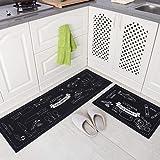 Kitchen Mat Set Absorbing Oil Non-Slip Long Carpet Anti-Skid Latex Wear-Resistant Mats