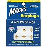 Mack's Pillow Soft Earplugs White , 6 pair