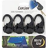 NITEIZE(ナイトアイズ) カムジャム ロープタイトナー 4個パック NCJ-01-4R3 (日本正規品)ブラック W34 H69 D15(mm) NI59103