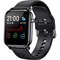COULAX Smart Watch, Activity Monitor, Pedometer, Heart Rate Monitor, Full Touch Screen, 1.4 Inch…