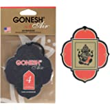GONESH(ガーネッシュ) 吊り下げ型芳香剤 ペーパーエアフレッシュナー No.4(甘くフルーティな香り) 96mm…