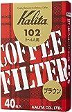 カリタ Kalita コーヒーフィルター 102濾紙 箱入り 2~4人用 40枚入り ブラウン #13143