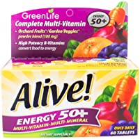 GreenLife Alive Energy 50+ Multivitamin, tablets, 60ct