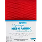 By Annie Light Weight Mesh Fabric 1 8 x 54-inch 100% Polyester Atom Red, Acrylic, Multicoloured, 0.09 x 7.4 x 9.4 cm