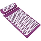 ValueHall Acupressure Mat and Pillow Set, Massage Mat with Separate Pillow -For Back & Neck Muscle Relaxation V7009-1 (Purple
