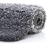 "KMAT Bath Mat Microfiber Bathroom Rug 32""(W) x 47""(L),Luxury Soft Shaggy Shower Rug,Non-Slip Absorbent Plush Floor Mats Runne"