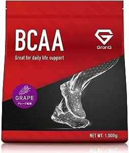 GronG(グロング) BCAA アミノ酸 グレープ風味 1kg (100食分) 含有率84% 国産