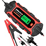 GOOLOO S4 4 Amp Smart Car Battery Trickle Charger Maintainer Automotive, 6V 12V Automatic Intelligent Water-Resistant Motorcy