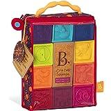 B. toys ソフトブロック 柔らかいつみきのおもちゃ 数字とイラストつきブロックキューブ 10個セット 6ヶ月~ 正規品