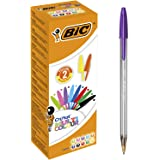 BIC Cristal Multicolour Ball Pens Wide Point (1.6 mm) - Assorted Colours, Box of 20