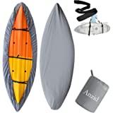 Anzid Kayak Cover Canoe Storage Dust Cover Waterproof & UV Protection Cover, Outdoor Fishing Boat Cover 3.1-4m / 10.2ft-13.1f