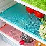 Aiosscd 7 PCS Shelf Mats Antibacterial Antifouling Refrigerator Liners Washable Can Be Cut Refrigerator Pads Fridge Mats Draw