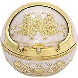 AROXIA 灰皿 ヨーロッパ風 おしゃれ 卓上 煙の出ない灰皿 (ゴールド&ホワイト)