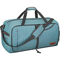 CANWAY 折りたたみバッグ ボストンバッグ スポーツバッグ 靴収納ポケット スーツケース固定 大容量 撥水加工 旅行…