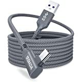 AkoaDa Oculus Quest 2 Link Cable 20ft/6M, Oculus Link Cable with Signal Booster, 90 Degree Angled High Speed Data Transfer &
