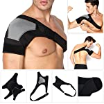 Oenbopo 1PC Adjustable Shoulder Support Shoulder Brace Strap Neoprene Brace Pain Injury Arthritis Gym Sport (Color : Right)