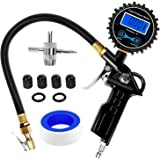 Nilight 50026R Digital Tire Inflator with Pressure Gauge,250 PSI Air Chuck and Compressor Accessories Heavy Duty with Rubber