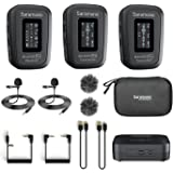 Saramonic Blink500 Pro B2 Mini Dual-Channel Stereo Wireless Microphone with Charging Case, OLED Display& 3.5mm Headphone Outp