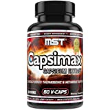 Capsimax Supplement 100mg V Capsules, 60 Servings by MST - Clinically Dosed Weight Management, Thermogenic, Appetite Control,