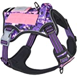 BUMBIN Tactical Dog Harness for Medium Dogs No Pull, Famous TIK Tok No Pull Dog Harness, Fit Smart Reflective Pet Walking Har