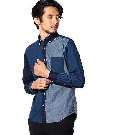 Crazy Pattern Indigo Buttondown Shirt 3211-166-1926: Cobalt