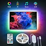 LED TV Backlights, Gove 9.8ft/3M Music Sync Strip Lights with Remote for 46-60 inch TV, 32 Colors 7 Scene Modes Accent Strip
