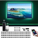 Alexa LED テープライト RGB テレビバックライト 0.5Mx4本 Alexa/Google Assistan…