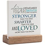 Lukiejac Inspirational Quotes Desk Decor Gifts For Women Best Friend Encouragement Cheer Up Gifts Office Inspiration Positive
