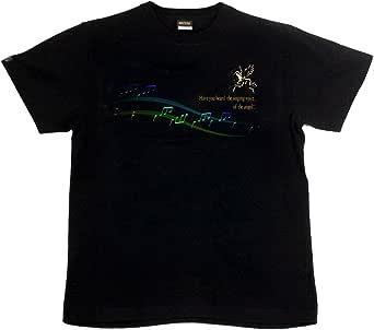 [GENJU] Tシャツ 天使 音符 楽譜 裏もデザイン有 メンズ キッズ
