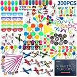 Amy&Benton 200PCS Goodie Bag Fillers Party Favors for Kids Birthday Pinata Filler Toy Assortment Prizes for Kids Classroom Re