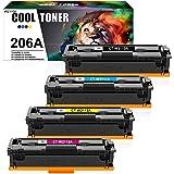 Cool Toner Compatible Toner Cartridge Replacement for HP 206A 206X W2110A W2111A W2112A W2113A Color Laserjet Pro M255dw MFP