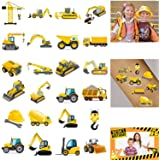 300PCS Construction Zone Party Favors Tattoos Temporary - Kids Construction Birthday Party Supplies Decorations Goodie Bags S