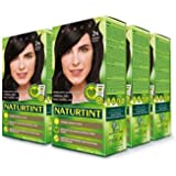 Naturtint Permanent Hair Color 2N Brown Black (Pack of 6), Ammonia Free, Vegan, Cruelty Free, up to 100% Gray Coverage, Long