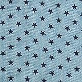 手芸のいとや 生地 ダブルガーゼ デニム風ガーゼ スターブルー 生地幅-約108cm×50cm 綿100% 手芸・ハンドメイド用品