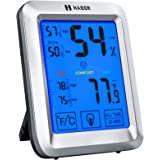 Habor Hygrometer Indoor Thermometer with Jumbo Touchscreen and Backlight, [] Room Thermometer Humidity Gauge Indicator for Ho