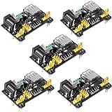 HiLetgo® 5個セット MB102 ブレッドボード 電源 ブレッドボード 電源モジュール 3.3V 5V MB102 ブレッドボード用 電源モジュール パワーモジュール Arduinoに対応 [並行輸入品]