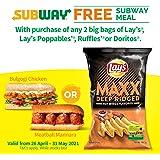 Lay's Maxx Hot Wings Potato Chips, 184.2g