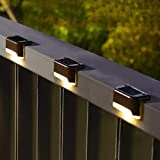 Solpex 16 Pcs Solar Deck Lights Outdoor, Solar Step Lights Waterproof Led Solar Lamp for Outdoor Pathway, Yard, Patio, Stairs