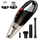 TAKA PRYOR Portable Car Vacuum Cleaner: Handheld Vacuums, Hand Mini Vacuum Cordless with High Power Kit for Detailing and Cle
