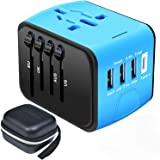 Travel Adapter,Universal Travel Adapter,All-in-one International USB Travel Adapter with High Speed 2.4A 4-port USB Charger W
