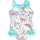 QLIyang Baby Girls Unicorn Swimsuit One Piece Kids Bathing Suit Little Girls Swimming Wear