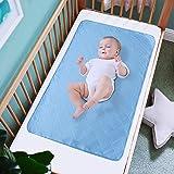 Waterproof Sheet and Mattress Protector 24'' X 36'',Non-Slip & Durable Wateproof Pad Mat for Baby Pack n Play/Crib/Mini Crib,