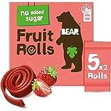 BEAR Real Fruit Rolls - Strawberry - Natural Fruit Snack - No Added Sugar - Gluten Free Snack - Vegan Fruit Snack - Healthy O