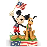 Enesco Disney Traditions by Jim Shore Mickey and Pluto Patriotic Figurine