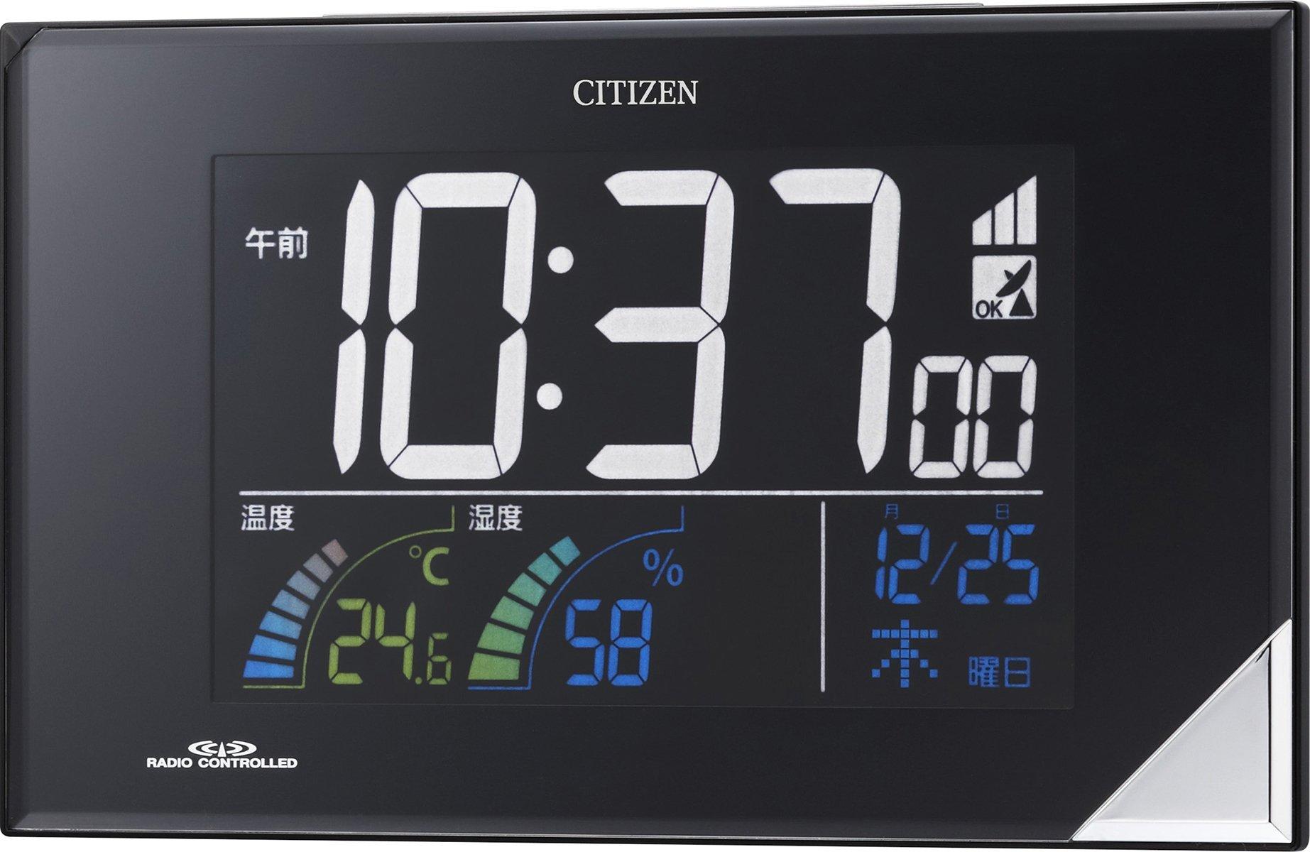 リズム時計 シチズン パルデジットネオン119 ブラック 8RZ119-002 取寄品
