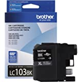 Brother Genuine High Yield Black Ink Cartridge, LC103BK, Replacement Black Ink, Page Yield Up To 600 Pages, Amazon Dash Reple