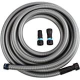 Cen-Tec Systems 94203 30 Ft. Hose for Home and Shop Vacuums with Multi-Brand Power Tool Adapter for Dust Collection, Silver